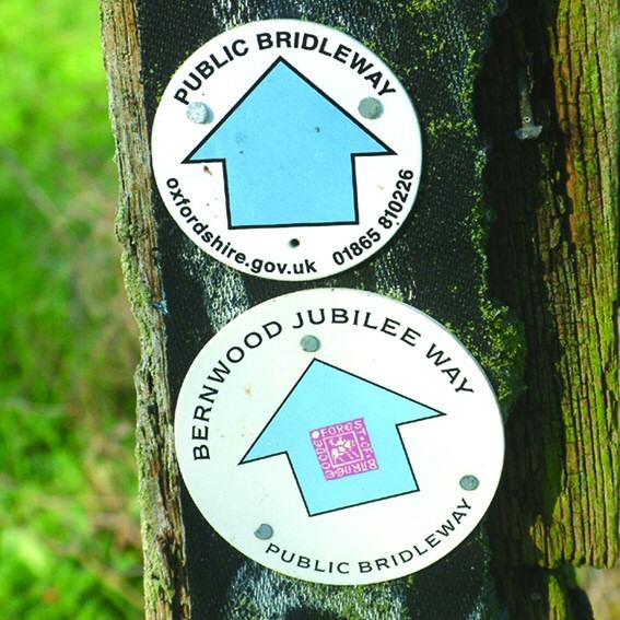 bridleway markers